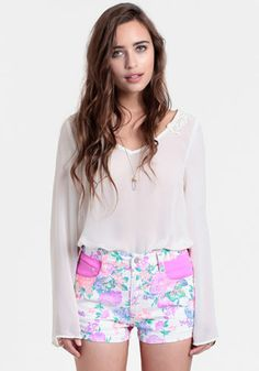 Electric Field High Waisted Shorts By MINKPINK at #threadsence @ThreadSence