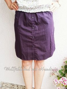 Aus Herrenhemd wird Damenrock / Men's shirt becomes ladies' skirt / Upcycling