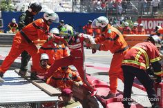 Felipe Massa gets out of his car - 2013 Monaco GP race