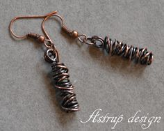 Special unique spiral earrings  from Lisa Astrup Art & craft by DaWanda.com