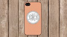 Personalized Monogram Chevron Orange case cover for iPhone 4/4s/5/5s/5c Samsung Galaxy S3/S4/S5/Note 2/Note 3 by TopCraftCase, $6.99