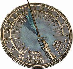 Rome Father Time Sundial with Motto & Brass Construction & Reviews (2345) | ShopLadder