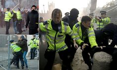 11 arrested as student demonstrations in London turn violent #DailyMail