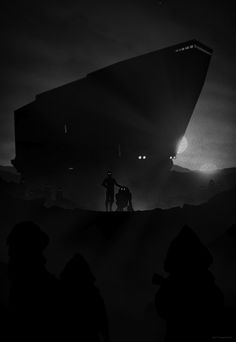 Brilliant Illustrations Feature 'Star Wars' Scenes In Vintage Film Noir Style - DesignTAXI.com