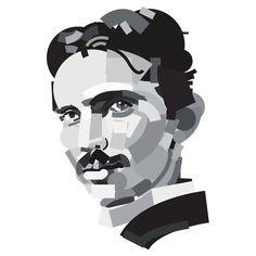 Portrait of Nikola Tesla T Shirt
