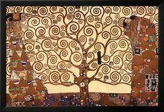 De levensboom Posters van Gustav Klimt - bij AllPosters.be