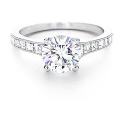 Tiffany & Co. Round Brilliant With   Square-cut Channel-set Band.