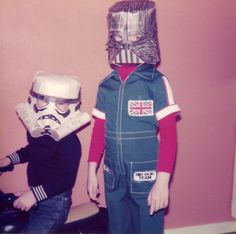 star wars homemade masks halloween 1970s