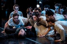 "Milwaukee Ballet Company surrounding Davit Hovhannisyan as Albrecht in Milwaukee Ballet's ""Giselle"""