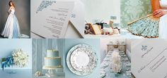 My Wedding Palette of Choice - Vintage French (Duck Egg Blue, Vintage Gold, Ivory)