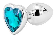 Handsome Cock Small Turquiose Heart Jewelled Butt Plug, £9.99