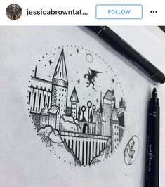 Harry Potter Hogwarts tattoo
