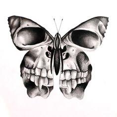 Tattoo Designs Creative Skull Butterfly