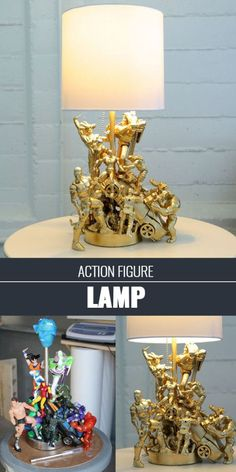 Cool Crafts for Teens Boys and Girls - .Action Figure Lamp for Bedroom Decor - Creative, Awesome Teen DIY Projects and Fun Creative Crafts for Tweens projekte lampe, Cool DIY Projects for Teen Boys Diy Projects For Teens, Diy For Teens, Crafts For Teens, Diy For Kids, Craft Projects, Cool Diy Projects Decor, House Projects, Spray Paint Projects, Art Ideas For Teens