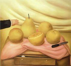 Still Life with Fruits - Fernando Botero: