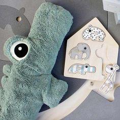 Knuffel Croco de krokodil XL - Done by Deer #cuddly #baby #toy #croco #donebydeer #littlethingz2