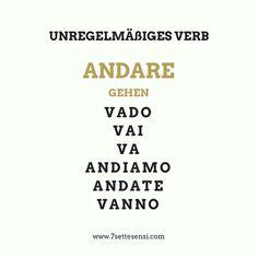 Italienische Verben: Das Verb andare=gehen ist ein unregelmäßiges Verb im Italienischen