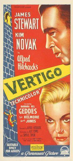 Vertigo (filmed in 1958) Directed by Alfred Hitchcock.
