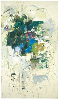 Joan Mitchell Untitled, 1965 Oil on canvas 194.9 x 113.7 cm / 76 3/4 x 44 3/4 in © Estate of Joan Mitchell Courtesy Joan Mitchell Foundation