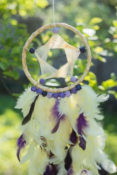 Large dream catcher Large Yellow Purple Dream by MysteriousForests