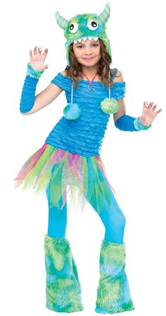 Blue Beasty Child Girl's Costume