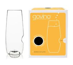 GoVino Wine Glass: Reusable, Recyclable & Shatterproof : Box of 4 (Champagne Flutes)