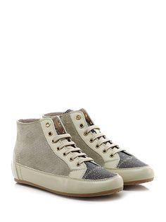 TOSCA BLU SHOES - Sneakers - Donna - Sneaker in pelle, camoscio forato e  tessuto lurex con zip su lato interno e suola in gomma. Tacco 40.