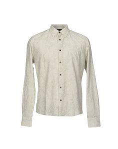 TONELLO Men's Shirt Military green 15 ¾ inches-neck