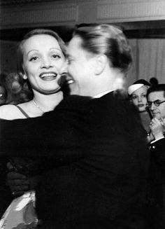 gatabella:  Marlene Dietrich dancing with her husband, Paris, 1938