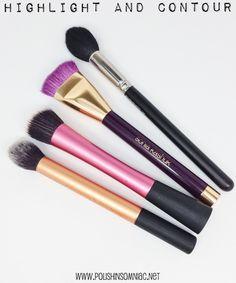My Top 10 Makeup Brushes - Highlight and Contour