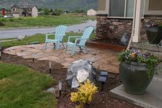 sitting area in front yard | Front patio!, I love having a sitting area in the front yard! Our ...