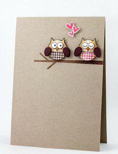 Cute Owl Love CAS card (Creative Inspirations)