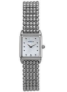 This Ladies Michel Herbelin watch has a stainless steel case which is set around a mother of pearl dial featuring silver markers. A stainless steel bracelet completes the look. Watch is French made with Swiss movement. Stainless Steel Bracelet, Stainless Steel Case, Ladies White, Square Watch, Bracelet Watch, Watches, Bracelets, Pretty, Wristwatches