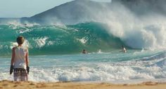 Sandy Beach, South Shore, Honolulu, Hawaii.  Oahu's Sandy Beach is known the world over as a top bodyboarding and bodysurfing spot and for its high proportion of ambulance calls.  The shorebreak is wicked!