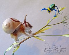 Lorisnail and Beetlebird by FamiliarOddlings.deviantart.com on @deviantART