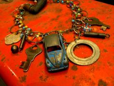VW Bug Road Trip Necklaces made to order by VintagePie on Etsy, $125.00