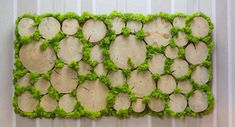 Here are 16 awesome ideas for diy Christmas decorations. Some of the material I got from a dollar tree store. Moss Wall Art, Moss Art, Garden Wall Designs, Moss Decor, Creative Office Space, Green Furniture, Plant Painting, Dollar Tree Store, Nature Crafts