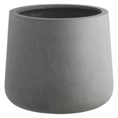 The contemporary Crete grey planter has a streamlined shape with a gently rounded base and provides the perfect background for sculptural plants. Made from lightweight yet durable fibreglass, the medium, frost-proof planter is available in various sizes. Garden Planters, Planter Pots, Contemporary Planters, Uk Homes, Shop Lighting, Crete, Habitats, Planting Flowers, Home Accessories