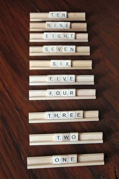 Scrabble Wedding Table Numbers set of 10 by DoveyDesign on Etsy