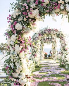 "2,269 Likes, 33 Comments - WedLuxe Media (@wedluxe) on Instagram: ""Imagine walking towards the altar through these immense floral arches! Designed By:…"""