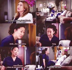 Meredith: Ow, Cristina, please, just talk to it. Meredith and Cristina on Grey's Anatomy Grey Quotes, Tv Quotes, Movie Quotes, Best Quotes, Meredith Grey, Meredith And Christina, Grey's Anatomy, Greys Anatomy Memes, Grey Anatomy Quotes