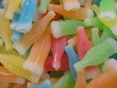 Wax-Candy Bottle Juices - how many did one have to drink before thirst was quenched.  I used to chew on the bottle wax afterwards