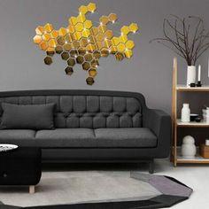 12PCS-Gold-Mirror-Hexagon-Sticker-Geometric-Wall-Bedroom-Living-Room-Home-Decor
