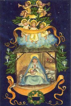 RARE Mint Tasha Tudor Vintage Heritage Christmas Card #JR64 Madonna