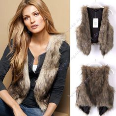 67ea771b282 2019 2014 New Fashion Women Low Price Faux Fur Vest Gilet Waistcoat Hot  Brown  SV005512 From Agood