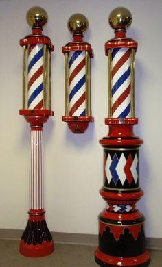 Antique Barber Shop Hat Coat Rack Koken Barber Pole | eBay