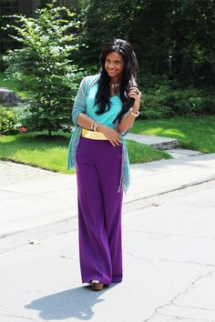 Color blocking effect with an awesome contrast piece