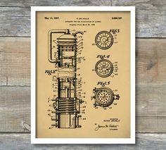 Whiskey Still Patent, Whiskey Poster, Whiskey Still Patent Poster, Bar Art Print, Bar Decor, Vintage Still, P382 by NeueStudioArtPrints on Etsy