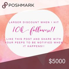 ❤Discount doubled to 20% off 2 or more at 10K!! ❤ 🎉❤️WE DID IT!!!!!! Made it to 10K!!!! Discount bumped to 20% off of 2 or more items from now until Wednesday night!! Come shop and celebrate with me! Share this with your friends so they can save to!!!! 🎉🎉💕💕❤❤🎉🎉 Anthropologie Tops