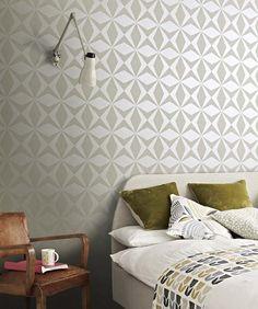 Cerberus | Papel de parede geométrico | Padrões de papel de parede | Papel de parede dos anos 70